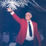 Harold Woolen taking Bids at Bob DeVaney Benefit Auction for Cerebral Palsy